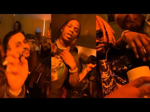 Jackboys & Travis Scott with Young Thug, Gunna, & Nav at Bootsy Bellows Pre-Grammys Party