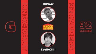 JIGSAW vs ZeeRoXIII (32 RAPPERS - RED #G) | KNOCK 'EM HOUSE
