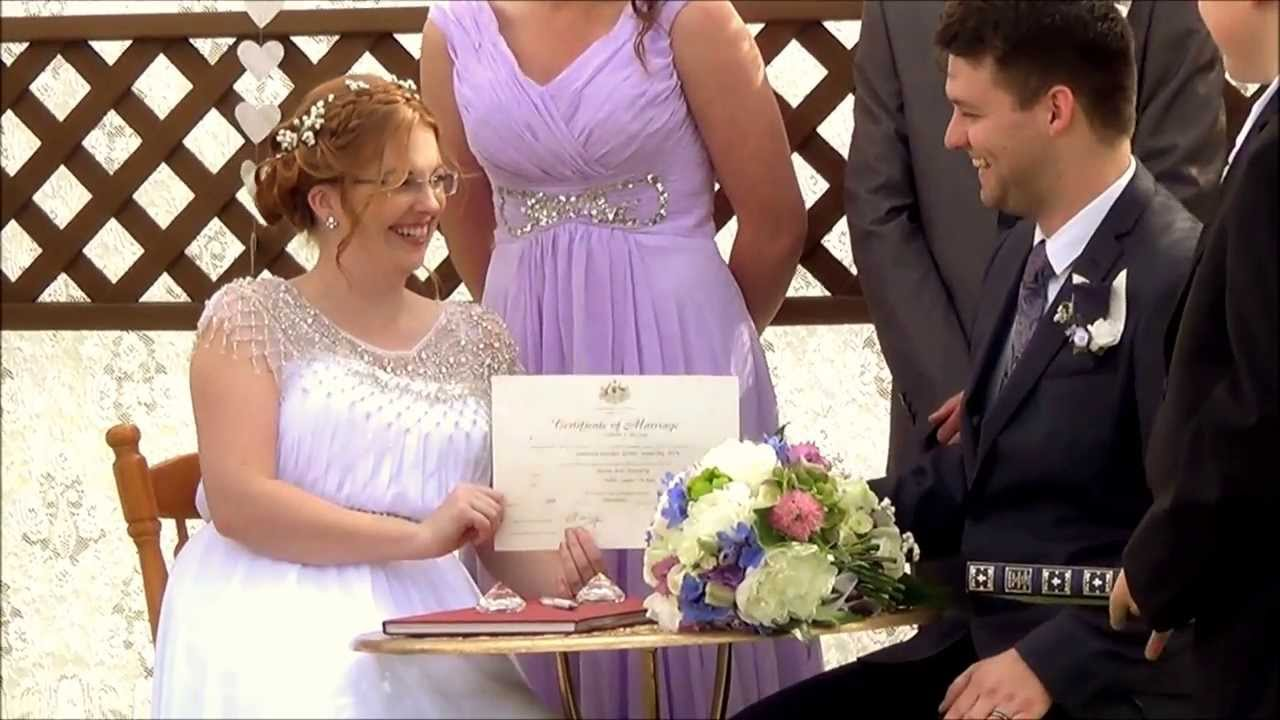 A Wedding Signing The Register