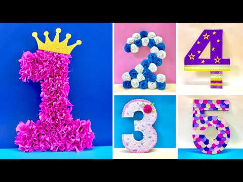 DIY 3D Floral Numbers for Birthday & Anniversary Decoration