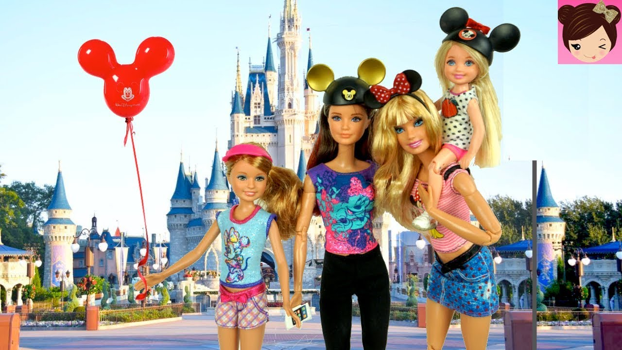 Barbie Sisters Go On A Trip To Disney World Park