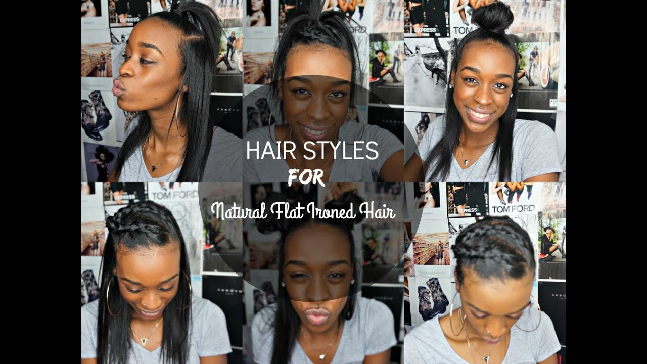 6 Hair Styles For Straight Natural Hair