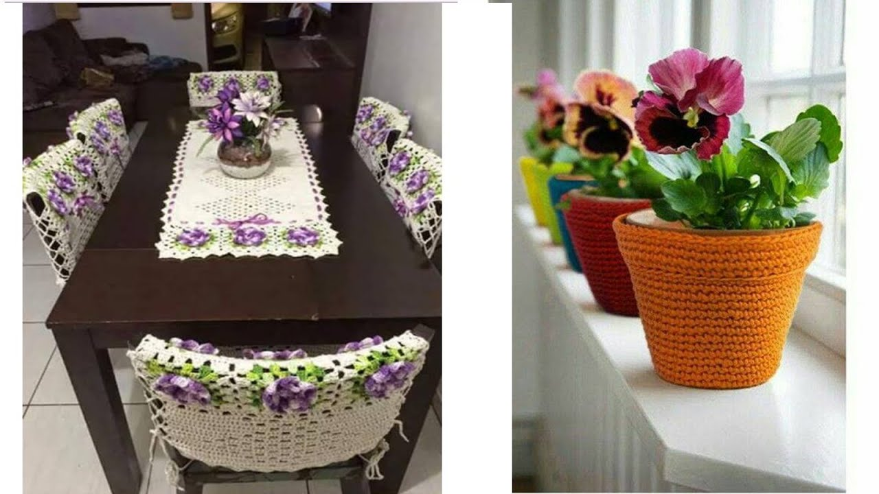 N 02 articulos tejidos a crohcet para el hogar youtube for Tejidos decoracion hogar