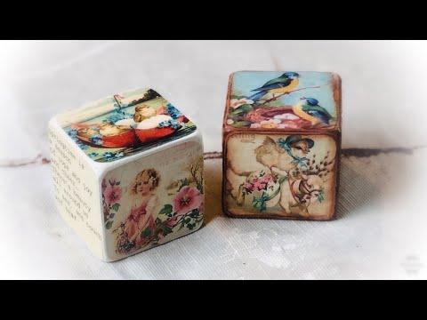 Dollar Tree DIY | Vintage Blocks | Easter Decoration