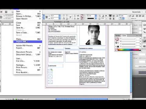 tutorial cv indesign