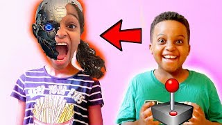 Robot IN SHASHA'S BRAIN! - Shiloh and Shasha - Onyx Kids