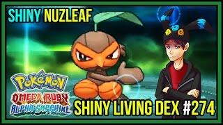 shiny nuzleaf shiny seedot   shiny living dex 274   pokemon omega ruby alpha sapphire