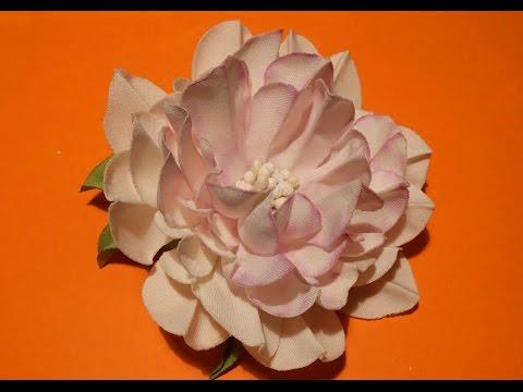 объемные цветы из ткани своими руками мастер класс