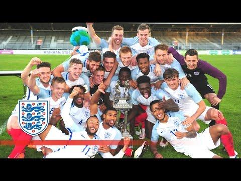 England U21 celebrate winning 2016 Toulon Tournament | Inside Access