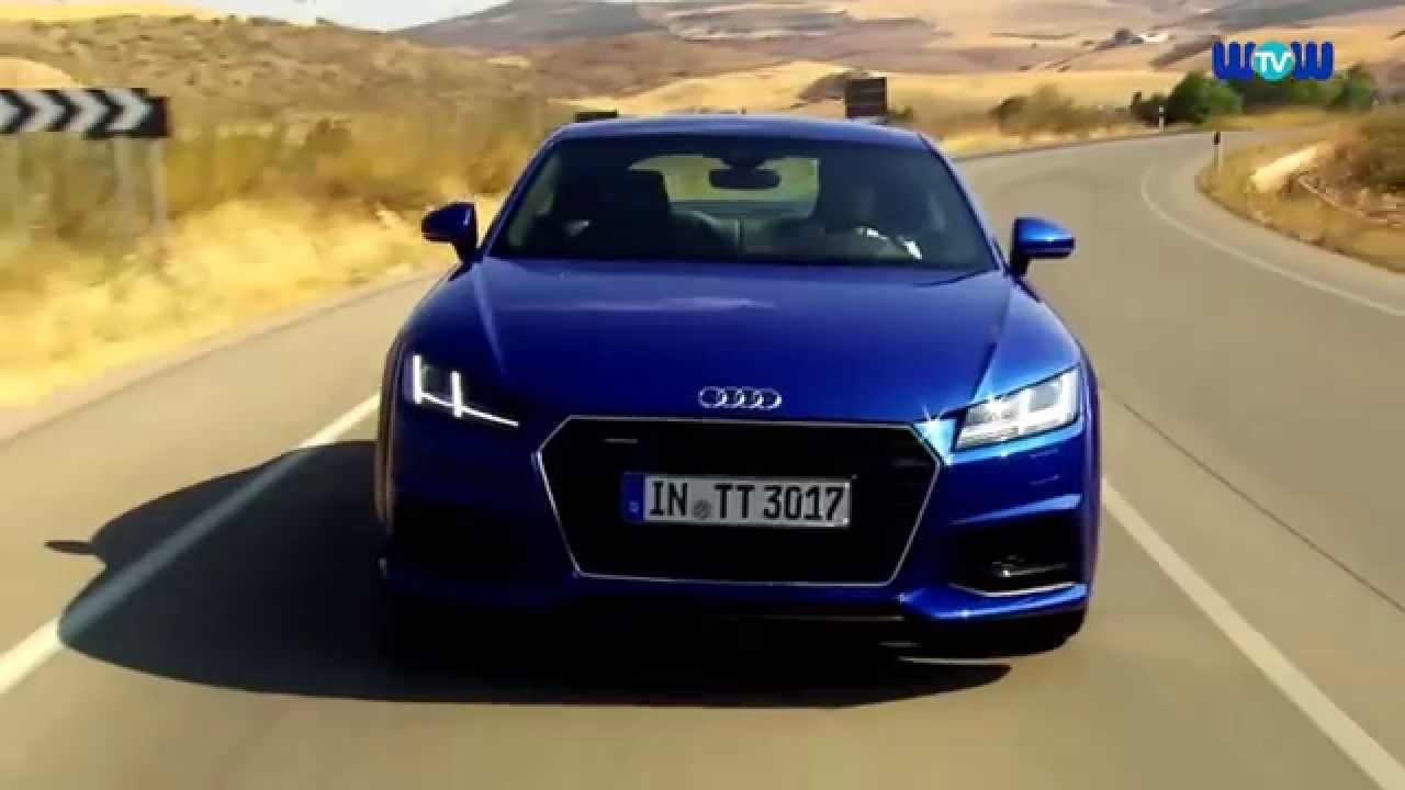 2016 Audi Tt Coupe In Blue Driving Video Youtube