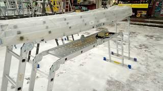 Видео обзор Алюминиевая лестница трех секционная 3х9 WERK
