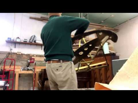 Removing the harp from a Bush and Lane grand piano