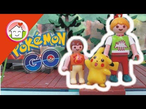 Playmobil Film deutsch Pokémon GO bei Familie Hauser - Kinder Spielzeug Filme