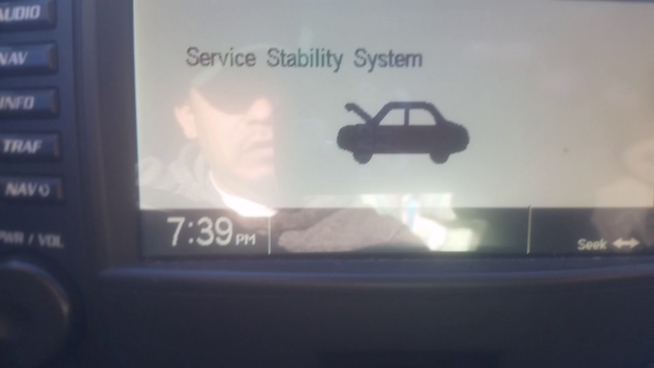 1999 cadillac seville sts service stability system