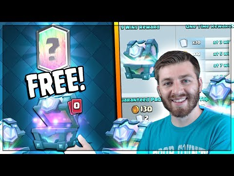 WIN FREE LEGENDARY CHESTS! BEST NEW EVENT!! | Clash Royale |  & x3 SUPER MAGICAL CHEST OPENING!