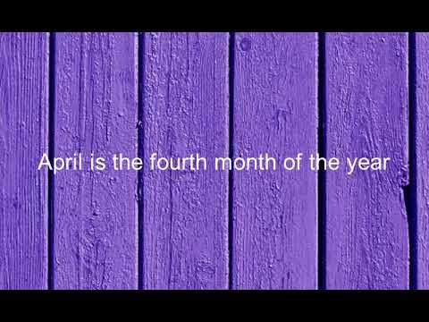 Como se dice Abril Es El Cuarto Mes Del Ano en Ingles