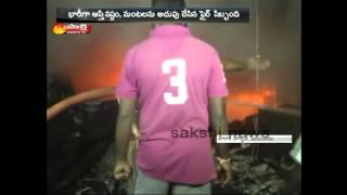 Fire Accident at Balaji Cloth Market in Vizianagaram