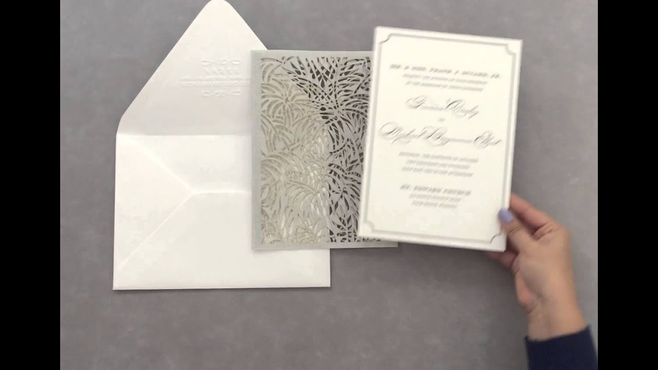 luxe palm chic wedding invitation by ceci new york