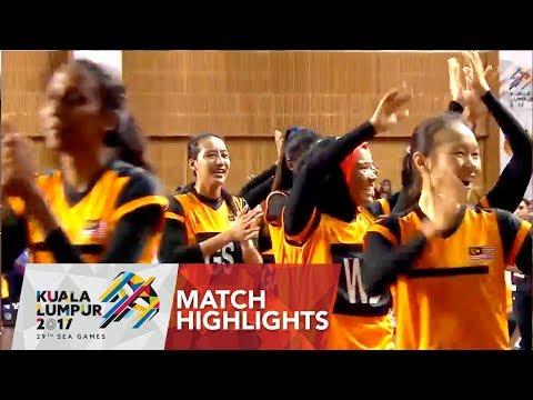 Netball match highlights: Singapore 🇸🇬 vs Malaysia 🇲🇾 | 29th SEA Games 2017