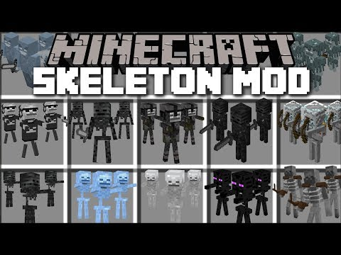 Thumbnail: Minecraft SKELETON ARMY MOD / FIGHT OFF HOARDS OF SKELETON BOSSES AND SURVIVE!! Minecraft