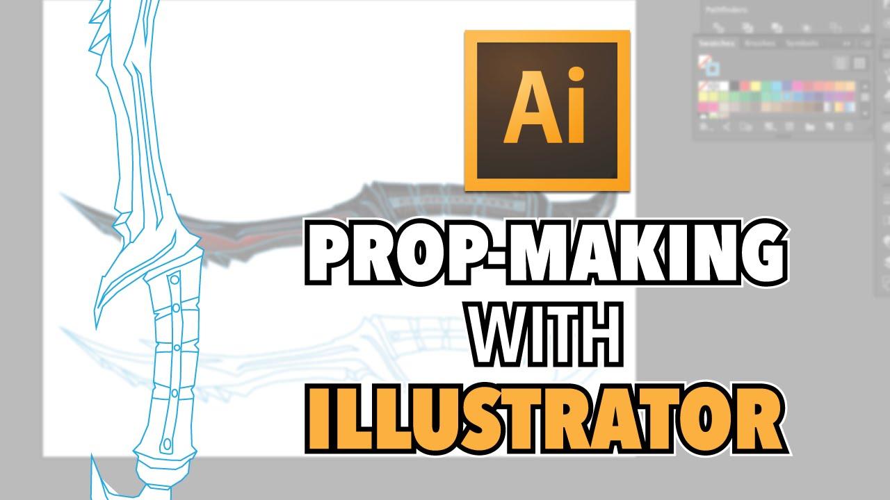 MAKE COSPLAY TEMPLATES WITH ADOBE ILLUSTRATOR | Daedric Dagger Build ...
