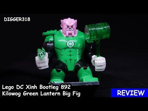 Lego DC Xinh Bootleg 892 Kilowog Green Lantern Big Fig Review 4K