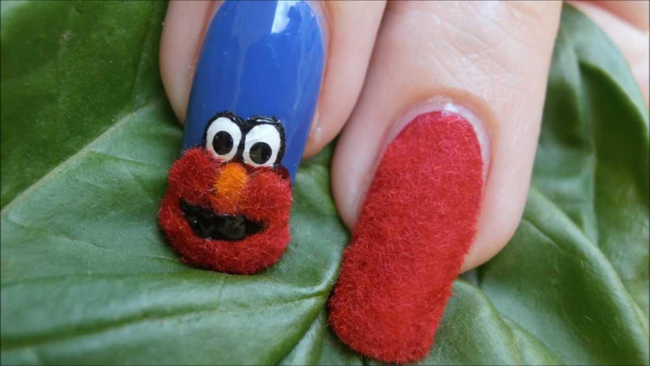 Fuzzy Elmo Nail Art Peluches Youtube