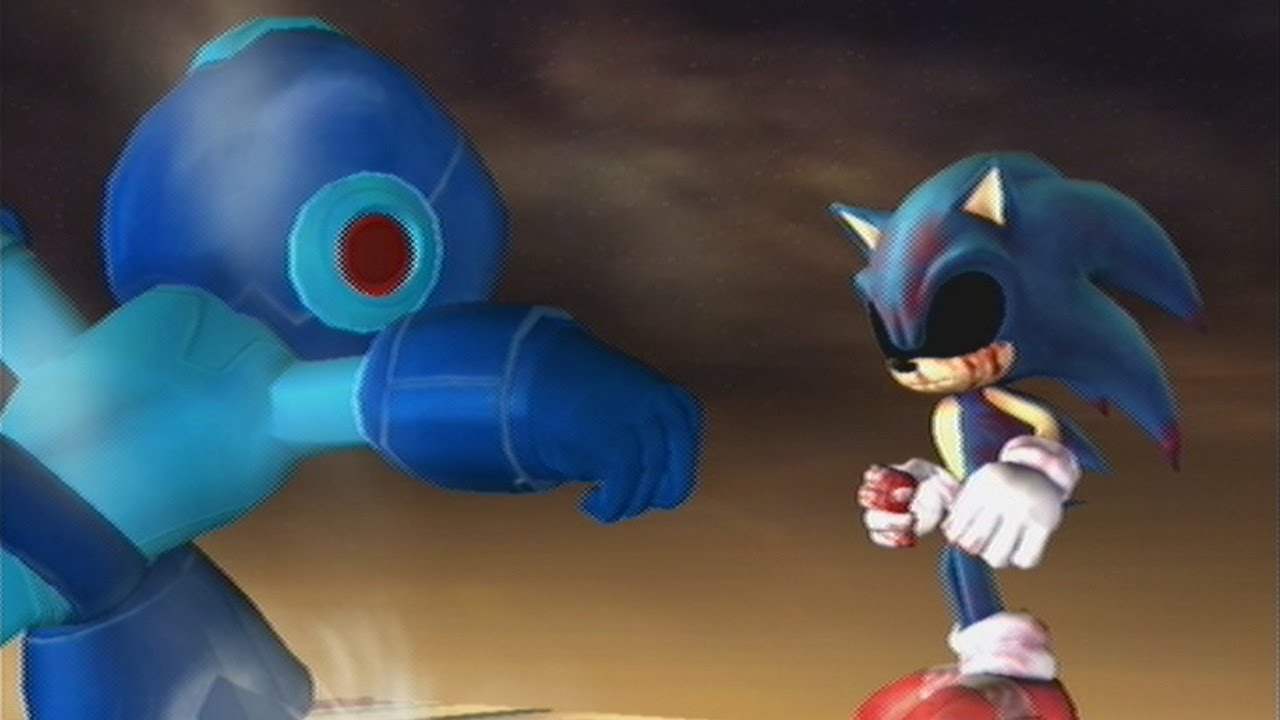 Mega man meets sonic exe super smash bros brawl hacked youtube