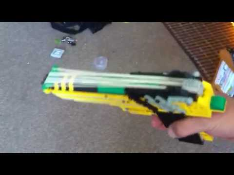 Working Lego Desert Eagle Rubber Band Gun - YouTube