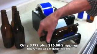 Easy Labeler Manual Bottle Label Applicator Machine - $399