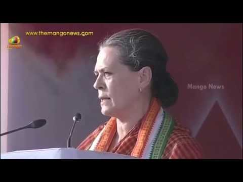 Sonia Gandhi Hindi speech in Maharashtra : Modi renamed our schemes and claims credit for them