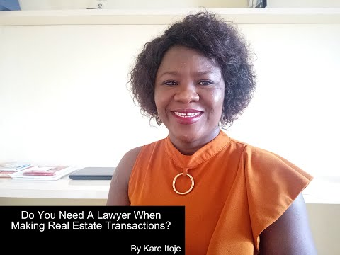 Do You Need A Lawyer When Making Real Estate Transactions?