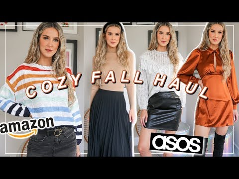 FALL TRY ON HAUL 2019  AMAZON + ASOS COZY CLOTHES  leighannsays