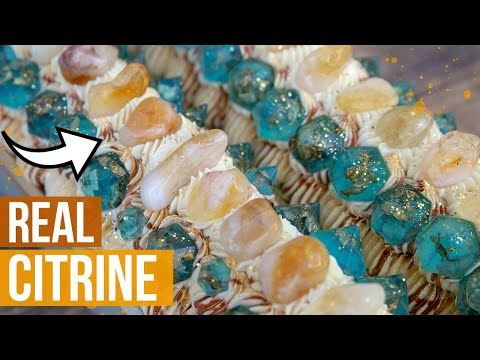 Citrine & Topaz - November Birthstone Cold Process Soap Making   Royalty Soaps