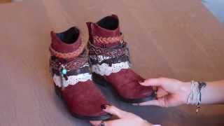 Boho Boots Diy Tutorial