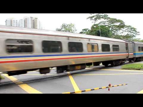 KTM train crossing Choa Chu Kang Road