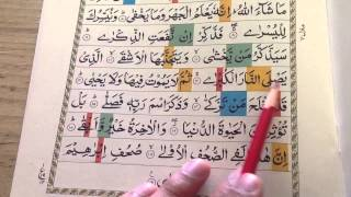 Surah Al-Alaa with brief practical Tajweed