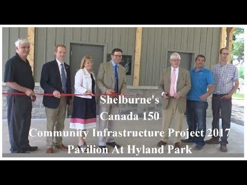 Shelburne's Canada 150 Community Infrastructure Project 2017 Pavilion
