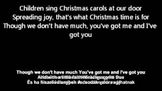 N sync all i want is you this xmas with english lyrics magyarul