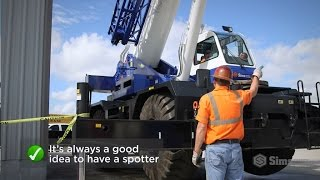 Backing and Swinging for Mobile Crane Operations | Sims Crane Minute