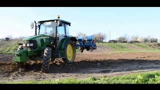 2014 - Semanat Primavara / Uprawa i siew kukurydzy - JD 5100R SPC 8 &  3x UTB