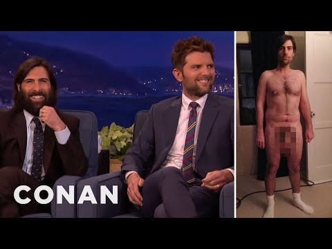 Adam Scott & Jason Schwartzman On Their Prosthetic Junk   CONAN on TBS