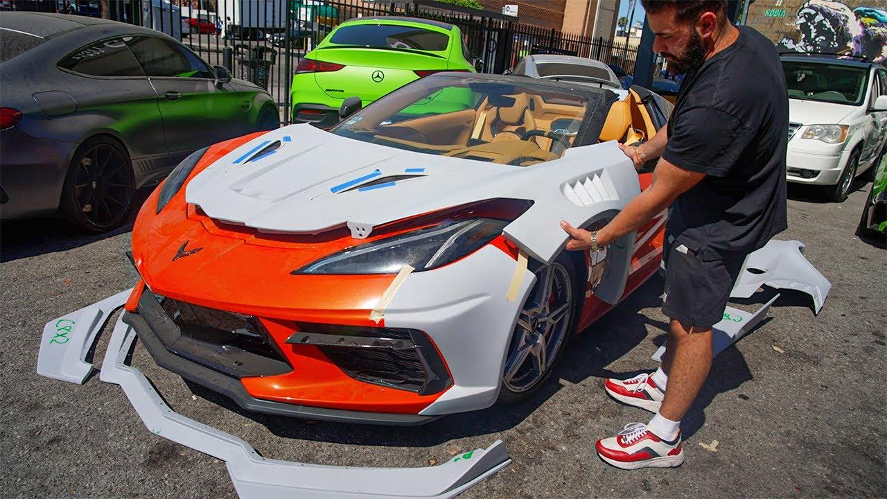 Widebody C8 Corvette Project, Fans Aventador, Wild Mclaren 720 Sneak Peak.