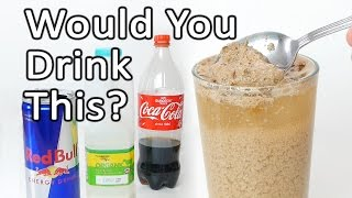 Coke + Milk + Red Bull Reaction Experiment
