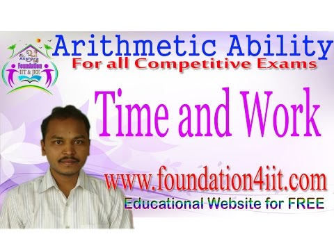 Time and Work || Arithmetic Ability # 13 ||