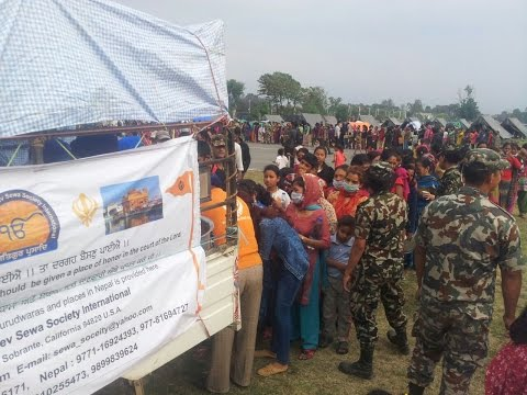 Nepal Earthquake Relief Operations by SGNDSSI