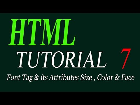 Font tag and its 3 attributes in html |HTML tutorial for beginners in Urdu/Hindi 2019 thumbnail