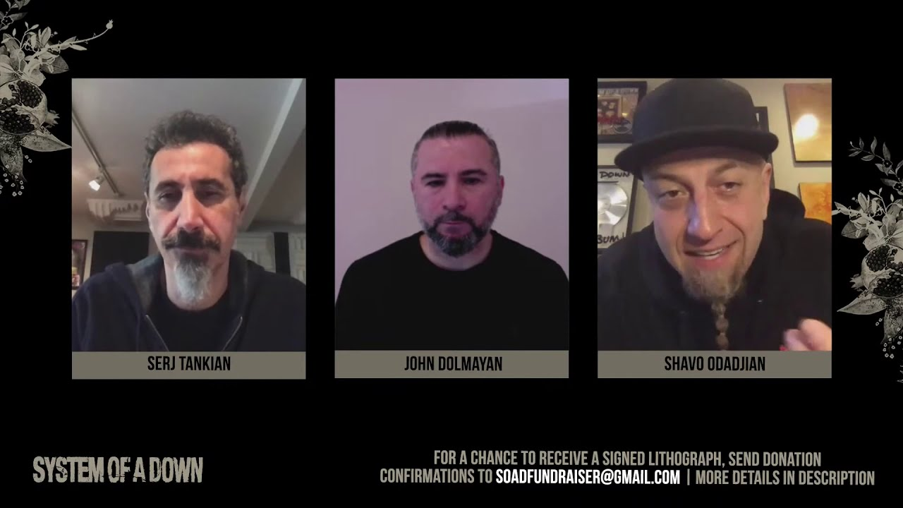 """System Of A Down Live Fundraiser For Wounded Armenian Soldiers+ """"Genocidal Humanoidz"""" Video Premiere"""
