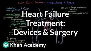 Heart failure treatment - Devices and surgery   NCLEX-RN   Khan Academy