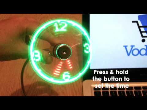 A Short-Lived USB LED Fan Clock